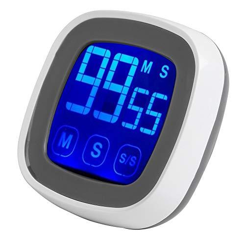 Kunststoff-touch Screen (Eboxer Digital-Touch Screen Küche, die Timer mit Magnetklammer-LED-Anzeige für Haus kocht Küchewecker, Wandwecker)