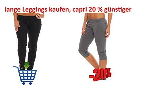 Gennadi Hoppe Damen Leggings Fitness Pant Dunkel Grau