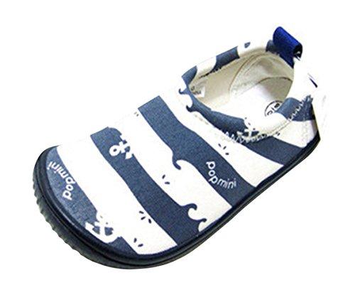 Insun Kinder Schuhe Lauflernschuhe Badeschuhe Sportschuhe Strandschuhe für Jungen Mädchen Anker Blau EU 22