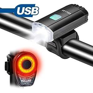 41K2PB606cL. SS300 Luce Posteriore Bicicletta USB Ricaricabile, VELLAA Fanale Posteriore Bici LED 100 lumen Super Luminosi 6 Potenti Regolazioni, COB luci Impermeabile per Bici Biciclette e Caschi per Ottimale Ciclismo Sicurezza