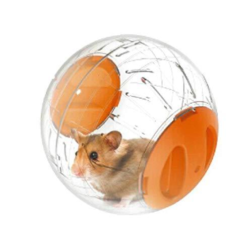 DJLOOKK Hamsterrad-Trainingsrad Laufender Hamster des Hamsters,Gesundes Und Sicheres Hamster-Spielzeug,Mini Run-About Übungsball Für Kleintiere 12Cm,Orange