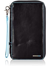 Travel document holder with wristlet Blue Square