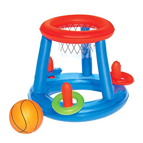 Funyake bambini gonfiabile galleggiante basket canestro anello lancio gioco bambini piscina giocattolo