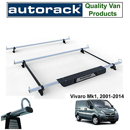 H1-LOW,TAILGATE Renault Trafic Roof Rack Bars x3 and Roller Rhino Van 2001-2014