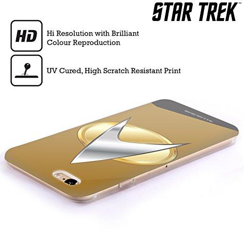 Ufficiale Star Trek Capitano Uniformi E Stemmi TNG Cover Morbida In Gel Per Apple iPhone 6 / 6s Operazioni