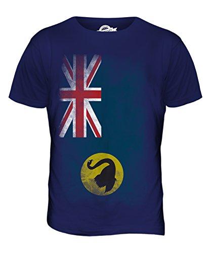 CandyMix Western Australia Verblichen Flagge Herren T Shirt Navy Blau