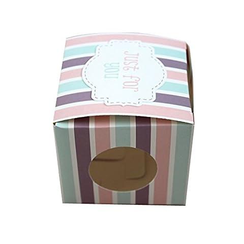 Cupcake-Boxen, 6Stück, hochwertig, Luxus, einzelne Cupcakes –Ideal als Geschenkbox (Single Cupcake Box)