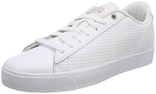 buy online 4fe4f 181ee adidas Damen Cloudfoam Daily QT Clean Fitnessschuhe, Weiß  (FtwblaFtwblaGridos 000