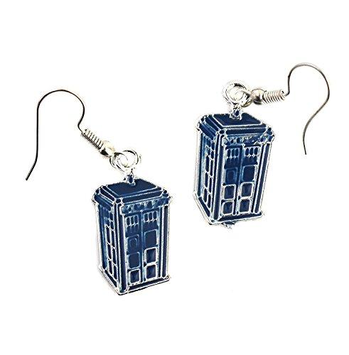 Dr Who Inspiriert Blau Tardis Ohrringe–Police Box Schmuck–Doctor Who Fashion Ohrringe