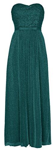 Vivi Chiffon Abendkleid Ballkleid Hochzeitskleid Festkleid Petrol (38)