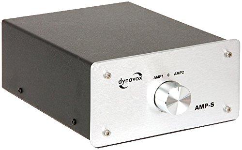 Dynavox AMP-S Verstärker/Boxen-Umschalter silber