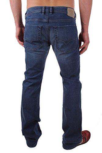 Diesel Zatiny 0RN18_Stretch Herren Jeans Hose Regular Bootcut Blau
