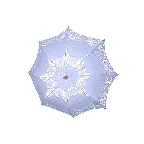 damai-shopSonnenschirm Spitze Spitze Sonnenschirm Regenschirm FüR Braut Brautjungfer Hochzeit Fotografie Prop, B, 38*31cm (Spitze Rüschen Sonnenschirm)