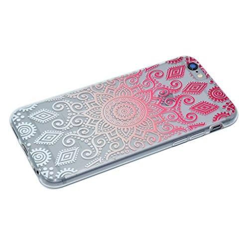 iPhone 6 Plus / 6S Plus Cover , YIGA Moda Verde Foglia di Albero Trasparente Silicone Morbido Dolce TPU Case Protezione Shell Custodia per Apple iPhone 6 Plus / 6S Plus 5.5 XX38