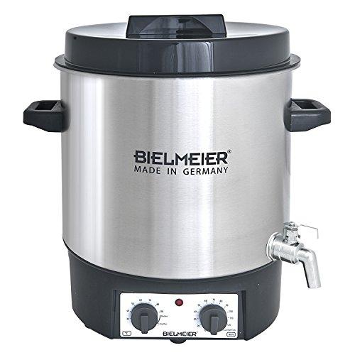 Bielmeier 495300 Einkoch und Glühwein-Vollautomat, 27 L, 34 Zoll Edelstahl-Auslaufhahn, 1800 W, BHG 495.3