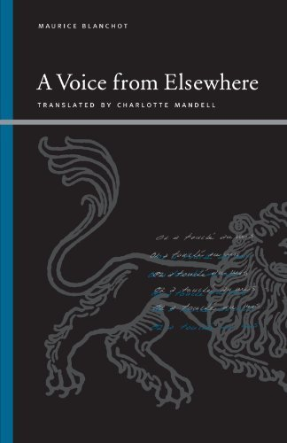 A Voice from Elsewhere (Suny Series, Insinuations Philosophy, Psychoanalysis, Literature) by Maurice Blanchot (2007-03-01)