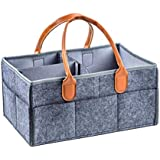 Iuhan Large Storage Bins Nursery Diaper Tote Bag Large Portable Car Travel Organizer Shower Bag As The Picture Shows Gray