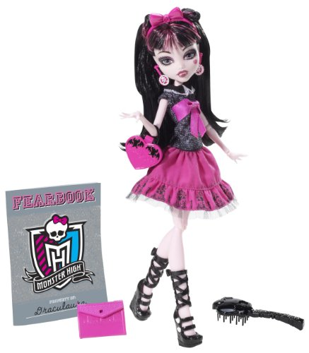 Mattel Monster High Y8497 -  Draculaura, Puppe mit Jahrbuch (Draculaura Monster Outfit High)