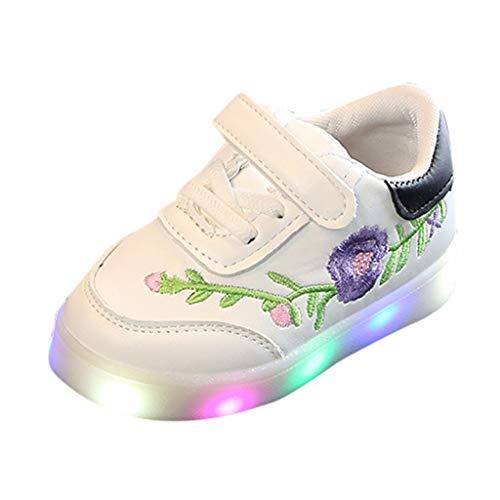 Ttmall scarpe bambino con luci,scarpe bambina eleganti sneakers luminose bimba scarpe led luce unisex per ragazze bambini,scarpe sportive lampeggiante colorati usb ricaricabile,21-30