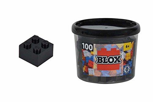 Simba 104114114 - Blox 100 Bausteine in Dose, 4er Set, setschwarz