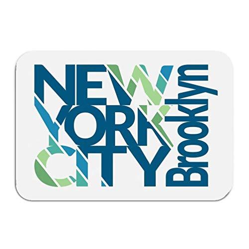 Non-Slip Color Dot Fußabtreter New York City New York City Typography Mans Printing Design ny Brooklyn Original wear Fashion Design Print Mats Entrance Rugs Carpet 16 24 inch ()