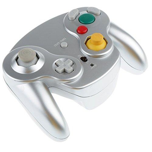 Homyl Contrôleur Sans Fil de jeu Vidèo Équipement jeu Vidèo Pour Nintendo Gamecube - Argent