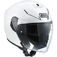 AGV Casque JET E2205 Top, Blanc, 6