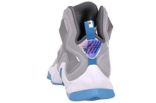 Nike Lebron Xiii, Scarpe da Basket Uomo, Talla Multicolore (Gris / Blanco / Azul / Gris (Wolf Grey / White-Bl Lgn-Drk Gry))