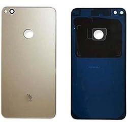 Verre Cache Batterie Dos Façade Vitre Arrière Pièce De Rechange Pour Huawei P8 Lite 2017 Version (Golden)