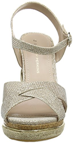 Dorothy Perkins Roxy Wedge, Escarpins Bout ouvert femme Gold (Metallic)