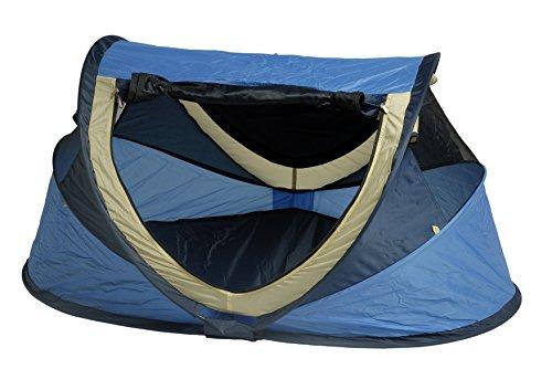 Preisvergleich Produktbild Deryan Reisebett/Travel-cot Peuter Reisebettzelt inklusive Schlafmatte, selbstaufblasbarer Luftmatratze und Tragetasche mit Pop-Up innerhalb 2 Sekunden aufgebaut, blue