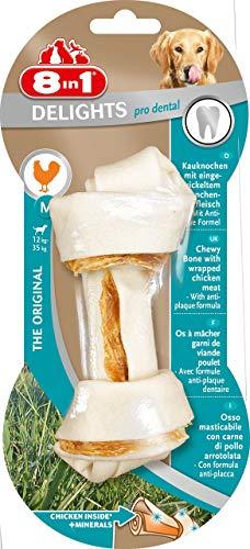 8in1 Delights Pro Dental Kauknochen M, gesunder Kausnack für mittelgroße Hunde zur Zahnpflege, 1 Stück (70 g) - Knochen Mittelgroße Hunde Hund Für
