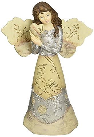 Elements Love You Grandma Angel Figurine by Pavilion, Holding Heart, 5-1/2-Inch