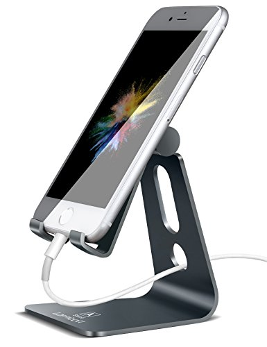 Lamicall Multi-Winkel Handy Ständer, Handy Halterung : Handyhalterung, Halter Ständer für Phone XS Max, XS, XR, X, 8, 7, 6 Plus, SE, 5, Samsung S9 S8 S7 S6 S5, Huawei, andere Smartphone - Grau