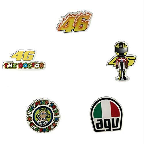 ZHANG 5 Rossi Motorrad Aufkleber Skateboard Persönlichkeit Wasserdicht Auto Fahrrad Notebook Telefon Flache Aufkleber
