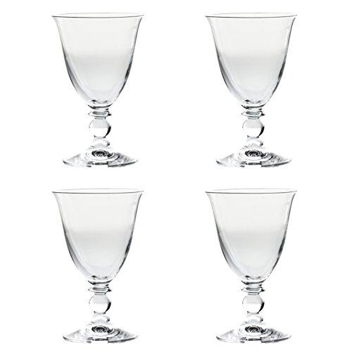 Lot de 4 verres à vin de luxe 100% sans plomb à tige courte 24 cl tulipe