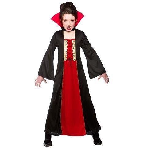 Wicked costumes - costume da vampiro per bambina, taglia m