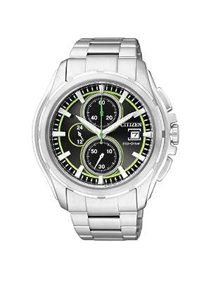 Citizen CA0270-59G - Reloj cronógrafo de cuarzo para hombre, correa de acero inoxidable color plateado de Citizen