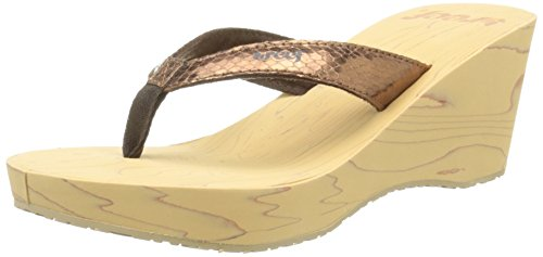 Reef Reefwood Ii, Flip-Flop Donna Brown (Bronze/Snake)