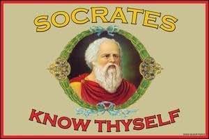 Know Thyself - 12x18 Art Poster by Socrates: Amazon.co.uk: Kitchen ...