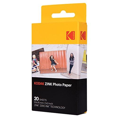 Kodak zink photo paper 20pezzo(i) 50 x 76mm pellicola per istantanee