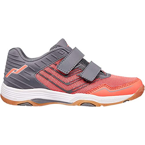 Pro Touch Unisex Kinder Rebel 3 VLC Volleyball-Schuh, Grey/Red Light