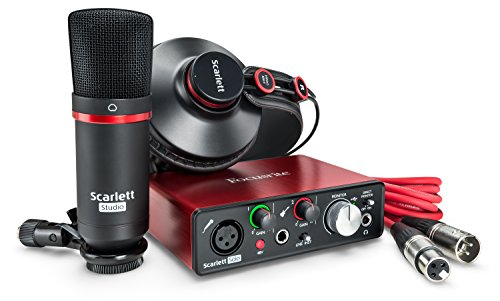 Focusrite Scarlett Solo Studio (2nd Gen) - Interfaccia Audio, Microfono a Condensatore, Cuffia Professionale