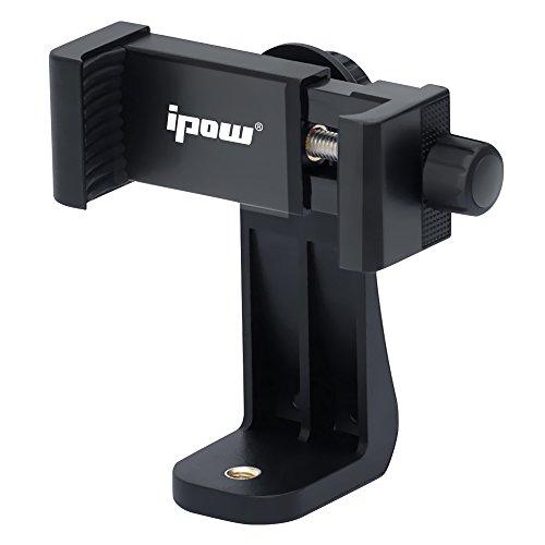 """Ipow Universal Handy Stativ Adapter Smartphone halterung Kompatible mit Stativ Tripod Selfie Stick Monopod mit Standard 1/4\""""-20 Schraubenkopf, Verstellbare Handyhalter geeignet für Iphone 7 Plus/7/6sp/6p/6s/5s, Android Smartphone, Samsung Galaxy/ Note, Huawei etc."""