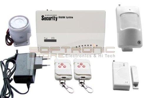 Kit de alarma inalámbrica con sirena con controlador Gsm con sensor d