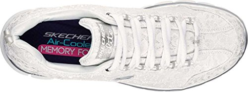 Skechers Synergy-Silky, Sneakers Basses Femme Blanc (Wsl)