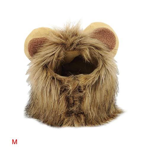 Muffler Tip - Pet Cat Dog Dress Up Costume Wig Emulation Lion Hair Mane Ears Head Cap Autumn Winter Muffler Scarf - Scarves Scarf Muffler Winter Muffler Lion Mane Chinese Angel Scarf Usop