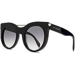 Alexander McQueen Intimschmuck Bar Sonnenbrille in schwarz AM0001S 001 52 52 Gradient Grey