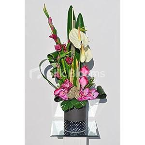 Arreglo Floral exótico de Gladioli, orquídea de Cymbidium y Anthurium