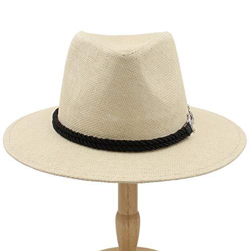 Sandy Cowper 2019 männer Frauen britischen Retro Jazz Hut Mode panaman hüte Fedora Neue Unisex Baumwolle Plaid frühling Herbst Papa Hut (Farbe : Khaki, Größe : 56-58CM) -